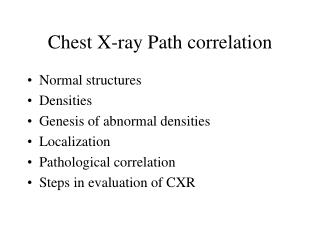 Chest X-ray Path correlation