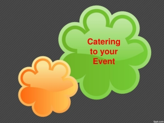 Catering to your Event