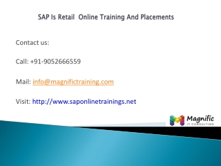 Sap is retail online training and placements