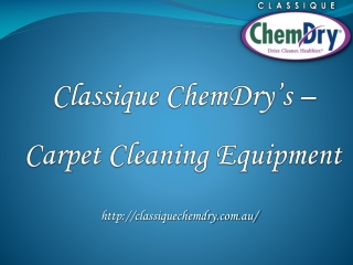 Classique Chemdry's Cleaning Products
