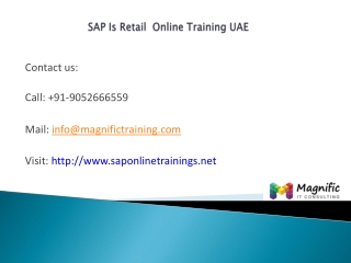 Sap is retail online training uae | sap is retail course