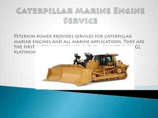 Caterpillar Marine Engine Service | Peterson Power