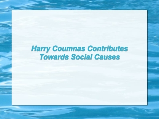 Harry Coumnas Contributes Towards Social Causes