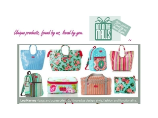 Not In The Malls - Gorgeous, Unique Products and Gifts for A