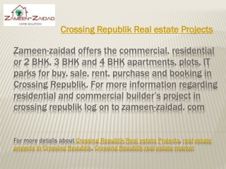 Crossing Republik Real estate Projects