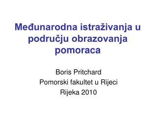 Međunarodna istraživanja u području obrazovanja pomoraca