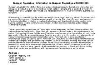 gurgaon properties,gurgaon new properties,gurgaon properties