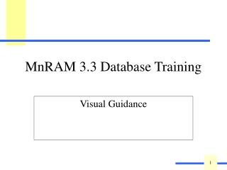 MnRAM 3.3 Database Training