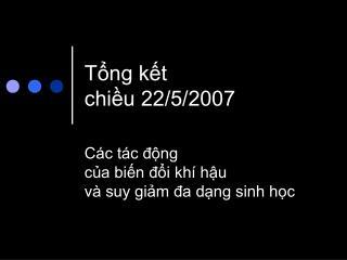 Tổng kết chiều 22/5/2007