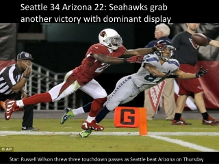 Seattle 34 Arizona 22: Seahawks grab another victory