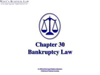 Chapter 30 Bankruptcy Law