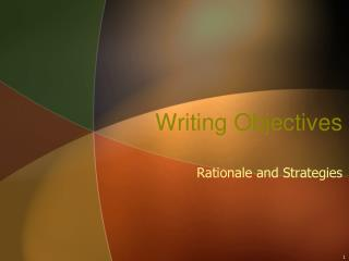 Writing Objectives