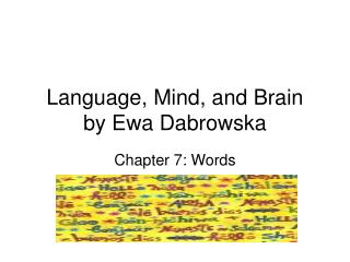 Language, Mind, and Brain