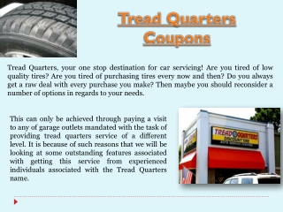 Tread Quarters Tires
