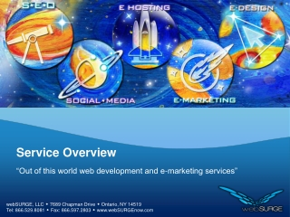 Services offered by websurge now