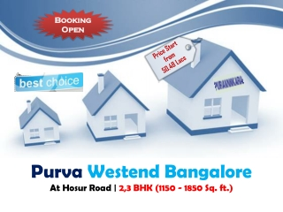 Purva Westend Bangalore - New Launched Project by Puravankar