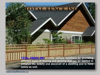 Fencing Services In Toronto