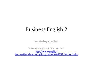 Business English 2
