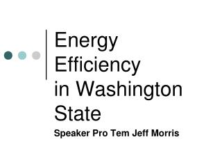 Energy Efficiency in Washington State