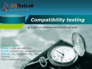 compatibility testing as a part of software non-functional t