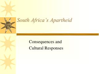 South Africa's Apartheid