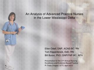 An Analysis of Advanced Practice Nurses  in the Lower Mississippi Delta