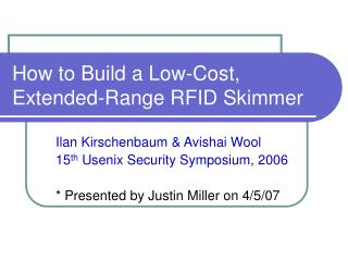 How to Build a Low-Cost, Extended-Range RFID Skimmer