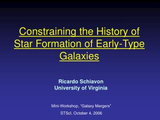 Constraining the History of Star Formation of Early-Type Galaxies