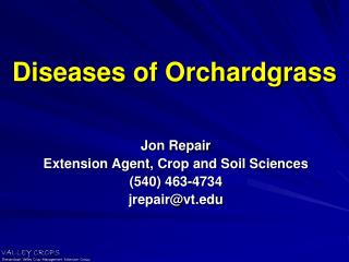 Diseases of Orchardgrass