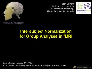 Intersubject Normalization for Group Analyses in fMRI