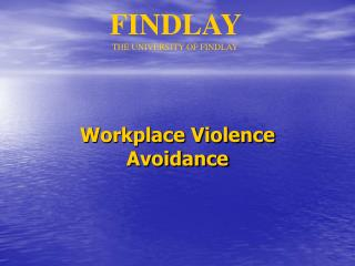 workplace violence avoidance