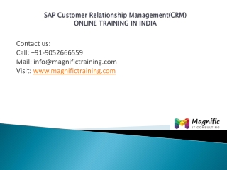 SAP Customer Relationship Managementonline training india
