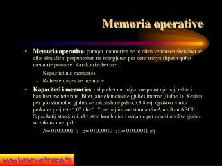 Memoria operative