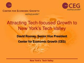 Attracting Tech-focused Growth to New York's Tech Valley