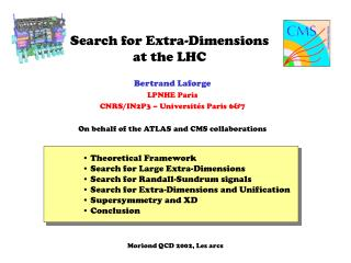 Search for Extra-Dimensions at the LHC