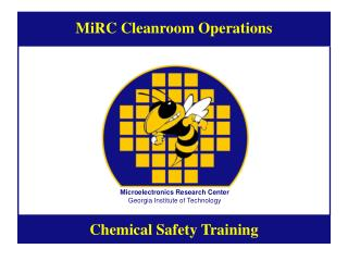 MiRC Cleanroom Operations