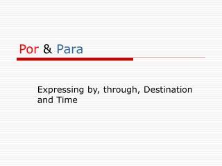 P or & P ara