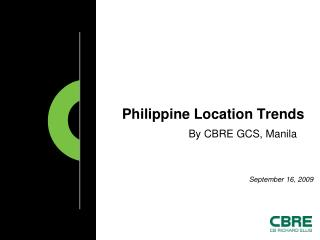 Philippine Location Trends