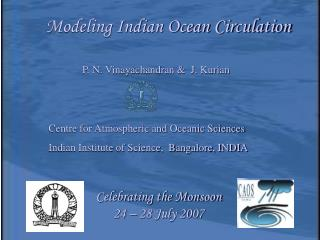 Modeling Indian Ocean Circulation