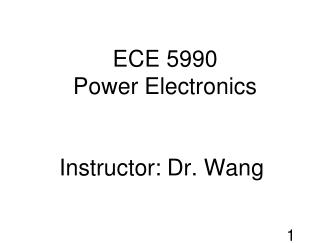 ECE 5990  Power Electronics