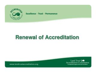 Renewal of Accreditation