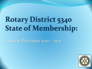 Rotary District 5340 State of Membership:
