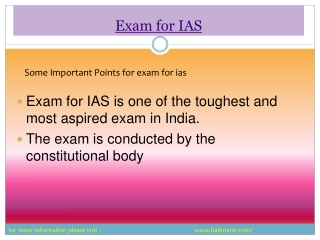 Some Local View about Exam for IAS Study