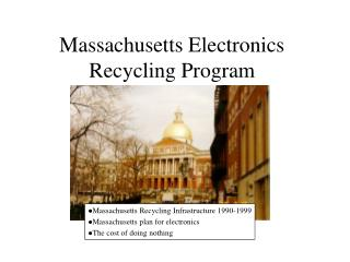 Massachusetts Electronics Recycling Program