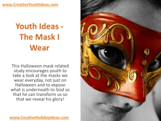 Youth Ideas - The Mask I Wear