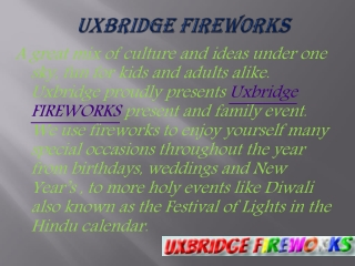 Know about best fireworks ideas at uxbridge fireworks