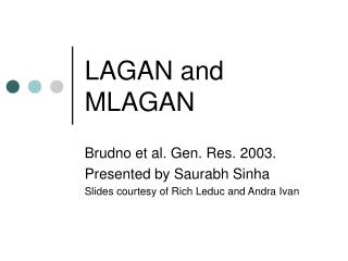 LAGAN and MLAGAN