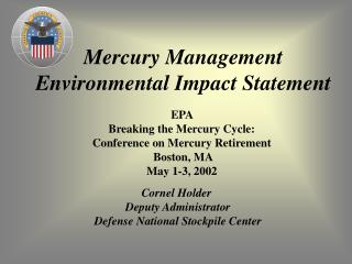 Mercury Management  Environmental Impact Statement