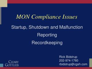 MON Compliance Issues