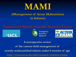 MAMI (Management of Acute Malnutrition  in Infants) Funded by UNICEF-led IASC Nutrition Cluster